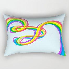 Spaghetti Rainbow Rectangular Pillow