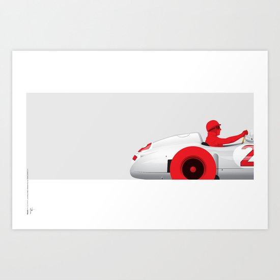 Juan Manuel Fangio, Mercedes W196, 1955 Art Print