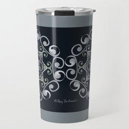 Grace Mandala x 2 - Gray Black Travel Mug