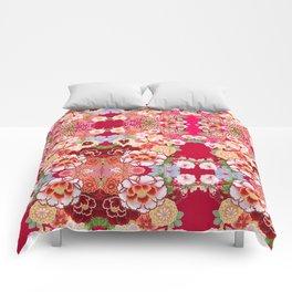 Red Floral Burst Comforters