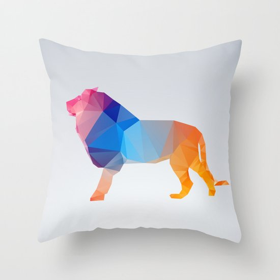 Glass Animal Series - Lion Throw Pillow