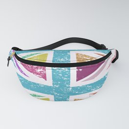 Distressed Multicol Union Jack/Flag Fanny Pack