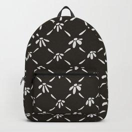 Floral Geometric Pattern Chocolate Brown Backpack