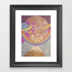 MAGIC SPACE PONY Framed Art Print