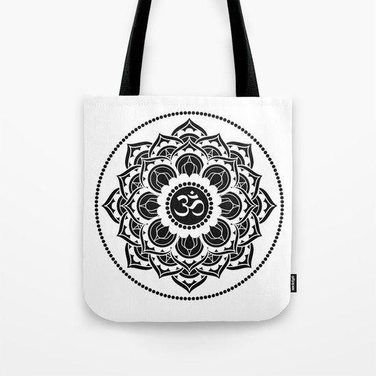 Black and White Mandala | Flower Mandhala Tote Bag
