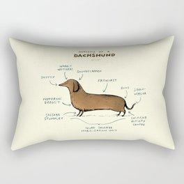 Anatomy of a Dachshund Rectangular Pillow