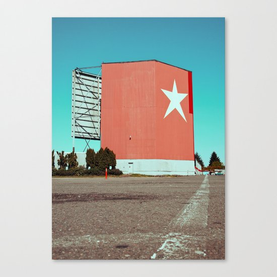 Drive-in relic Canvas Print