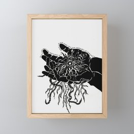 Our eyes hold the treasures of the world - As our hands hold the treasures of this earth - Words Framed Mini Art Print