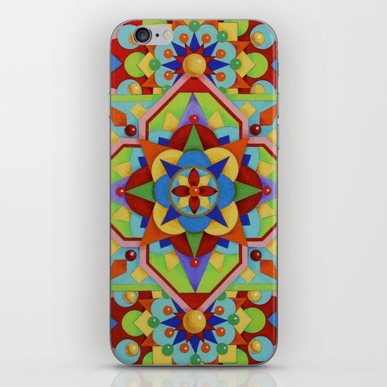 Chartres Mandala - yellow ground iPhone & iPod Skin
