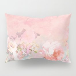 Modern blush watercolor ombre floral watercolor pattern Pillow Sham
