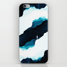 Teal Isolation iPhone & iPod Skin