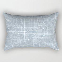 Omaha Map, USA - Slate Rectangular Pillow