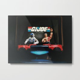 GI JOE Action Figures - Real American DJS Artwork Metal Print