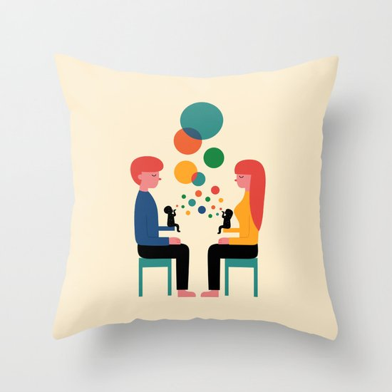 Soul Communication Throw Pillow