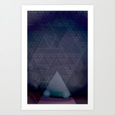 illuminate me purple Art Print