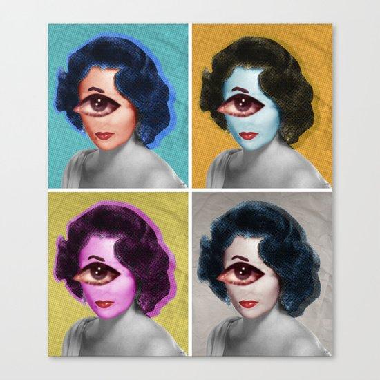 LizT Mix Collage x4 Canvas Print