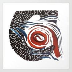 Horn-swirl Art Print