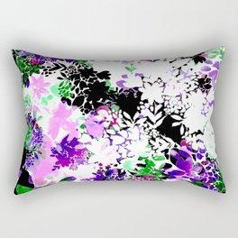 Painty Flowers Rectangular Pillow