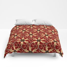 Eloise in Bondage pattern Comforters