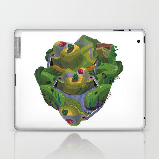 Green Brain Laptop & iPad Skin