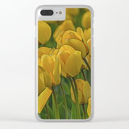Tulip. Clear iPhone Case