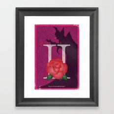 Vintage FF Poster II Framed Art Print
