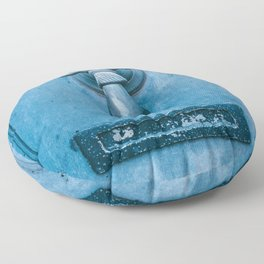 Blue Doorknocker Floor Pillow