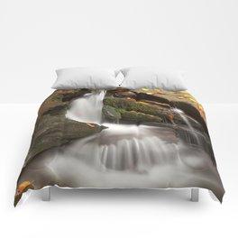 Crescent Crater Falls Comforters