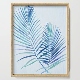 Feathery Palm Leaves Serving Tray