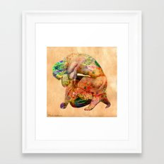male nude body  Framed Art Print
