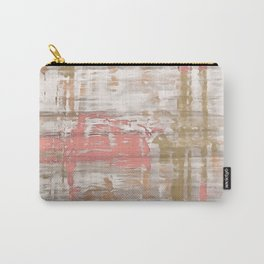 Living Coral, Camel And Gray Texture Carry-All Pouch