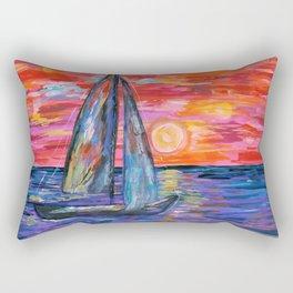 Sail at Dusk Rectangular Pillow