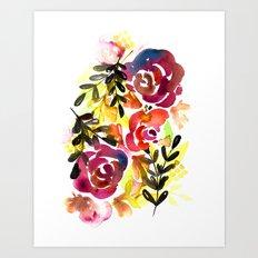 Violet Roses Art Print