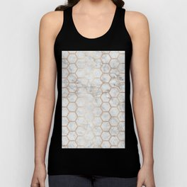 Honeycomb Marble Rose Gold #358 Unisex Tank Top