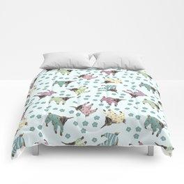 Pajama'd Baby Goats - Blue Comforters