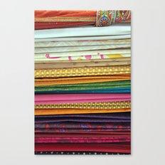 indian sarees Canvas Print