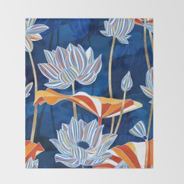 Bold Botanical Throw Blanket