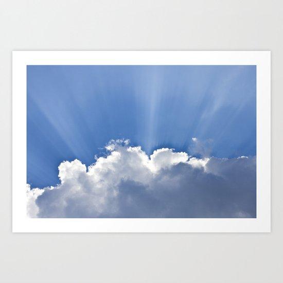 Clouds over Seaside Art Print