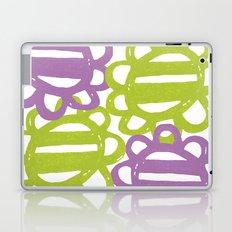 Fun Flowers Large purple green Laptop & iPad Skin