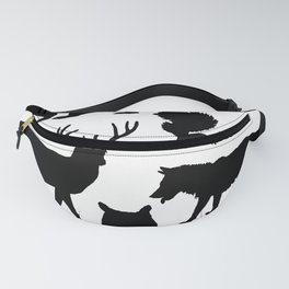 Black and White Animal Patterns Fanny Pack