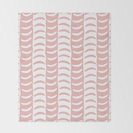 Wavy Stripes Dusty Rose Throw Blanket