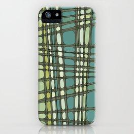 Robin, shades of green geometric iPhone Case