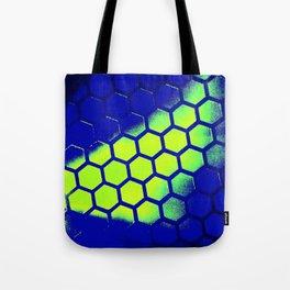 Blue Grid Light #3 Tote Bag