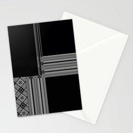 Multiple Black White Geometric Patterns Stationery Cards