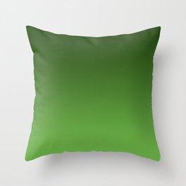 Green Ombré Gradient Throw Pillow