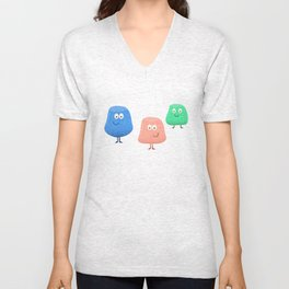 Gum Drops Set  Unisex V-Neck