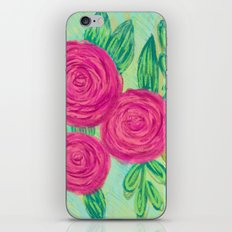 Roses painting chalk iPhone & iPod Skin