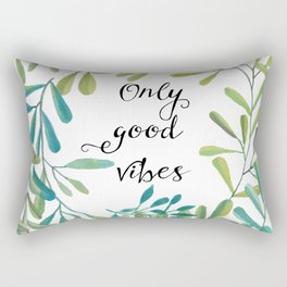 green leaves nature Rectangular Pillow