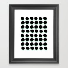 Abstract painted Dots minimal black and white Framed Art Print