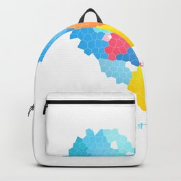 Just love! Abstract bright geometric pattern in the shape of a heart Backpack